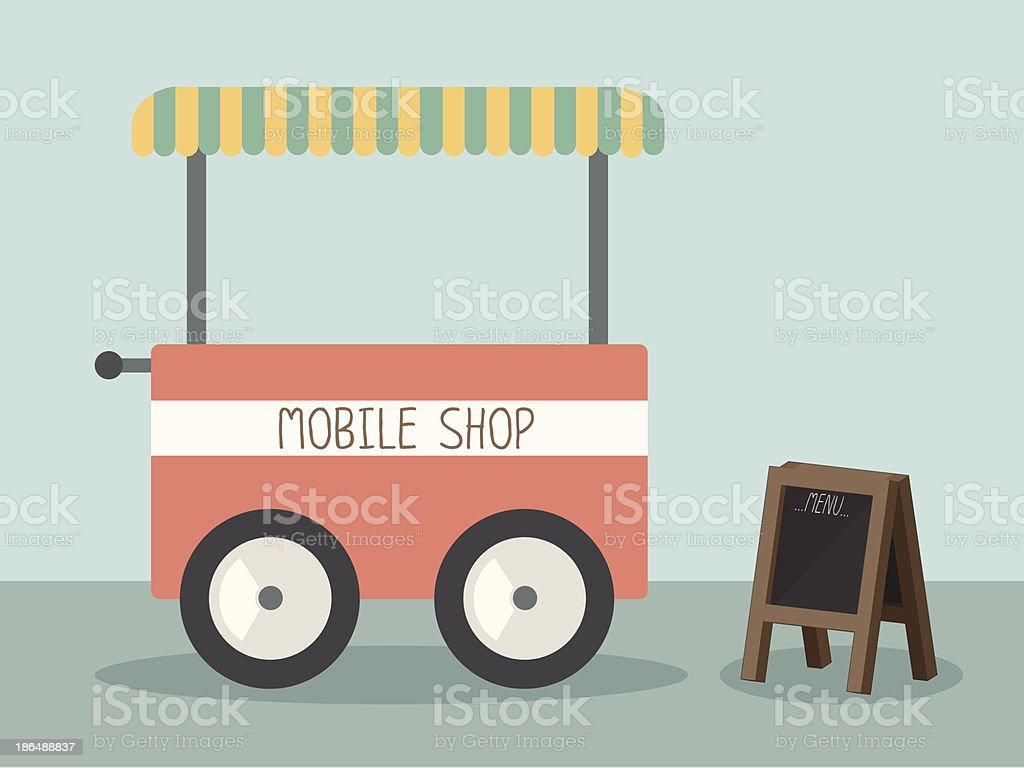 mobile shop royalty-free stock vector art