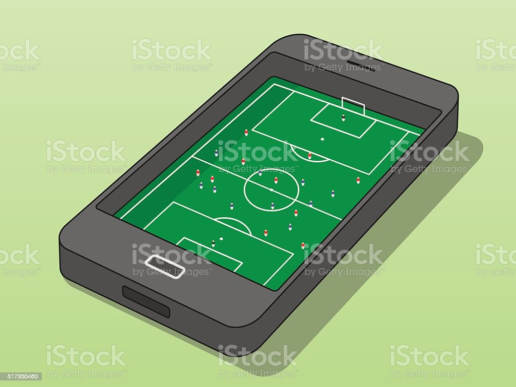 Mobile Sports vector art illustration