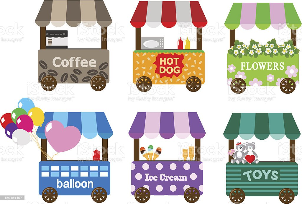 Mobile stores vector art illustration