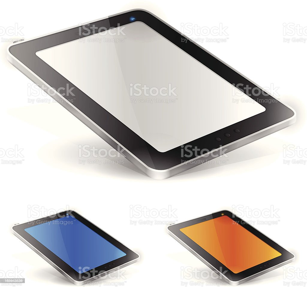 Mobile Tablet vector art illustration