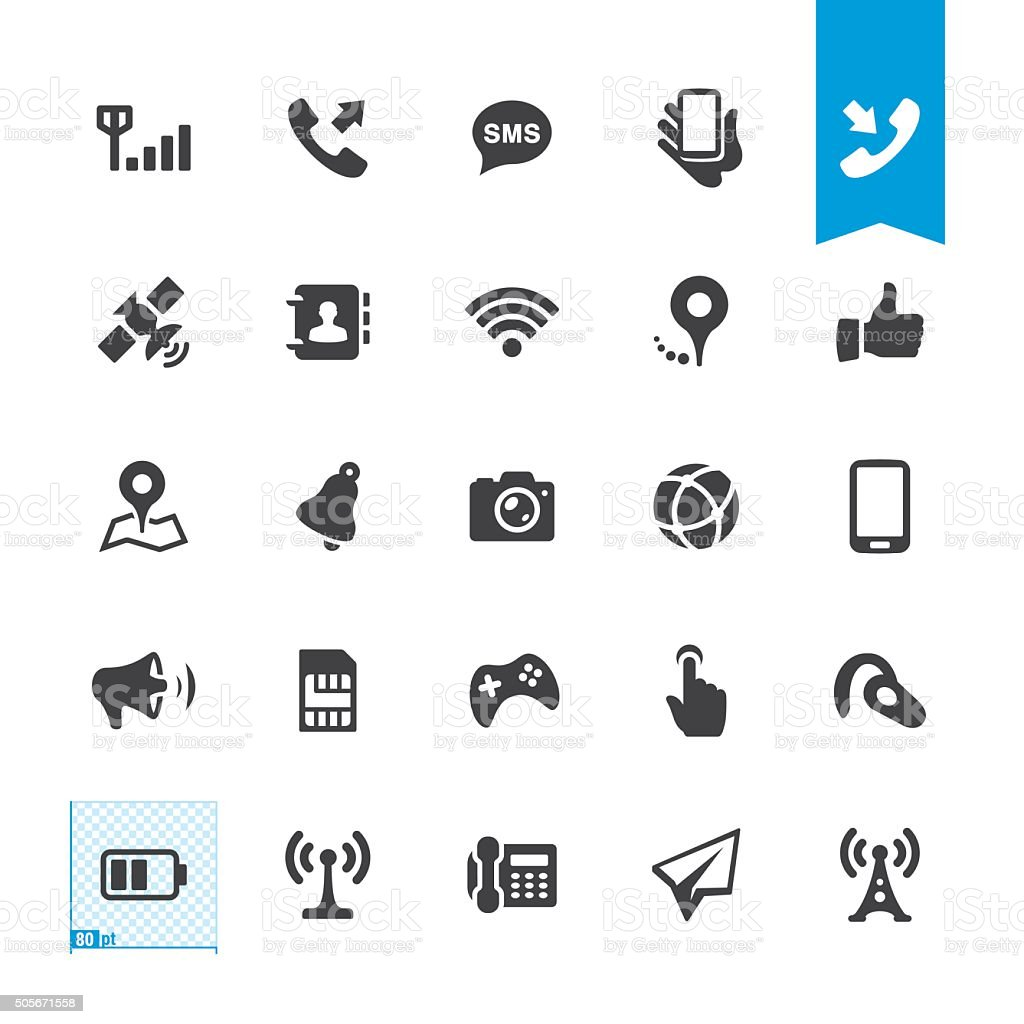 Mobile Telecom vector icons vector art illustration