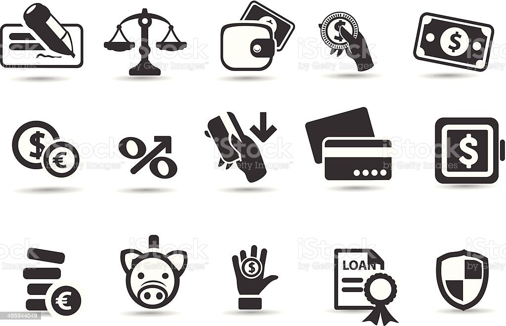 Mobilicious - Banking Icons royalty-free stock vector art
