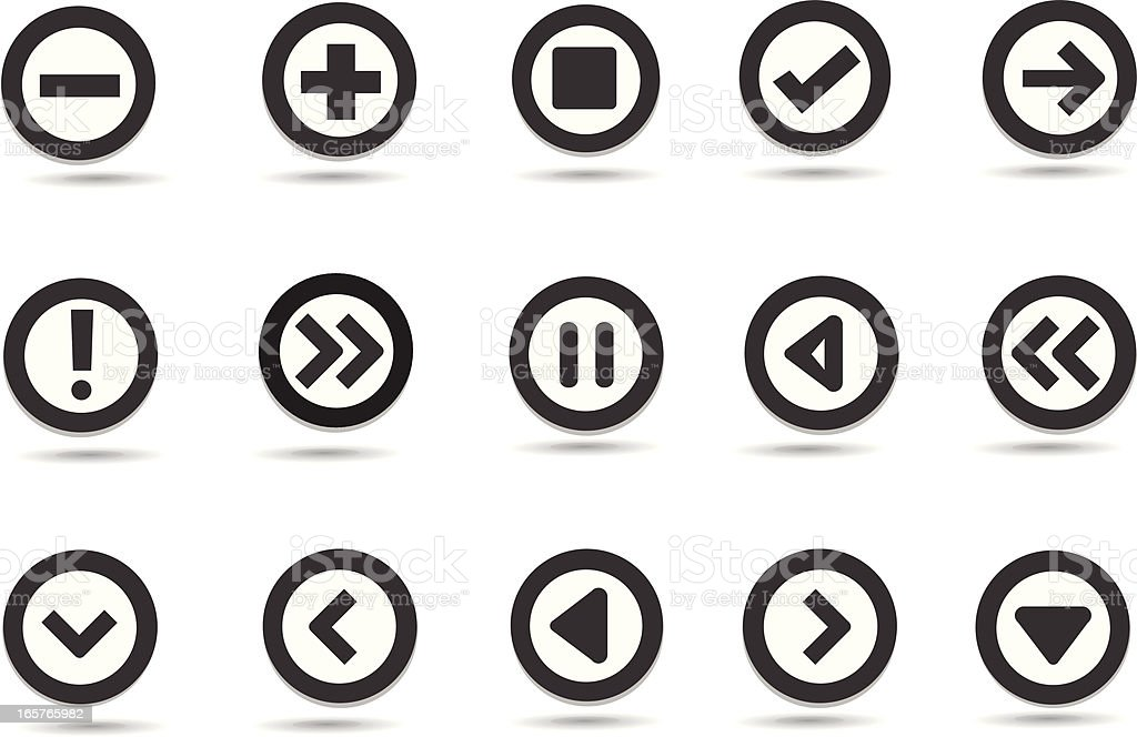 Mobilicious Internet Buttons and Icons royalty-free stock vector art