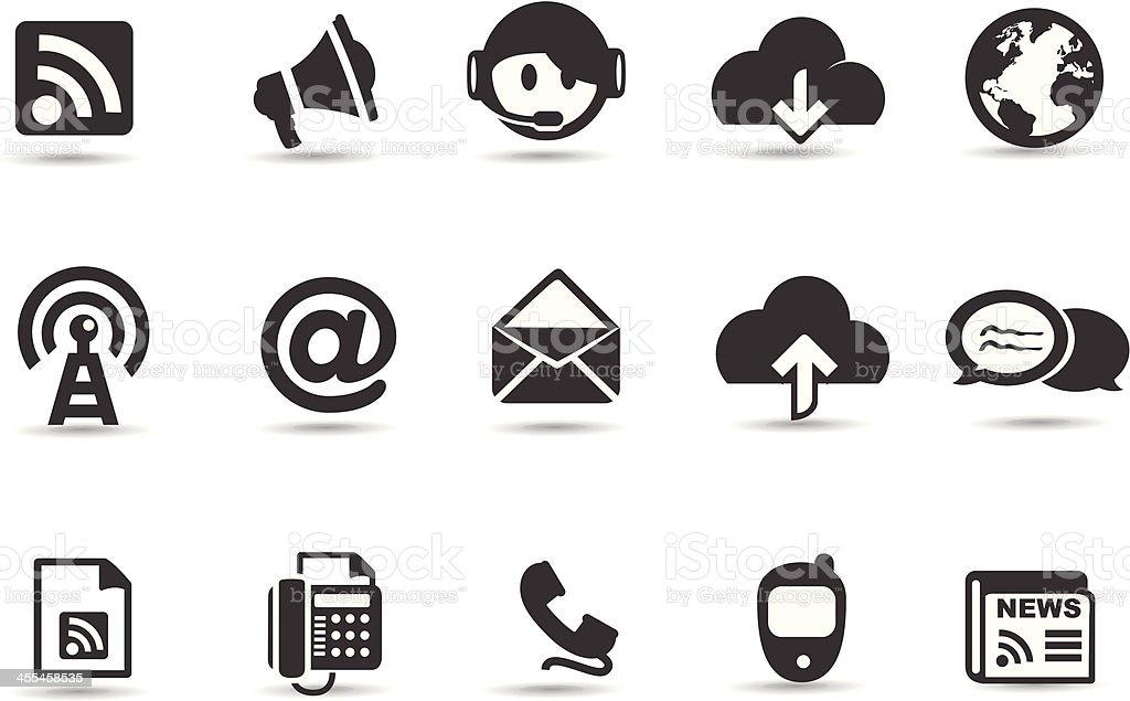 Mobilicious Social Networking Icons royalty-free stock vector art