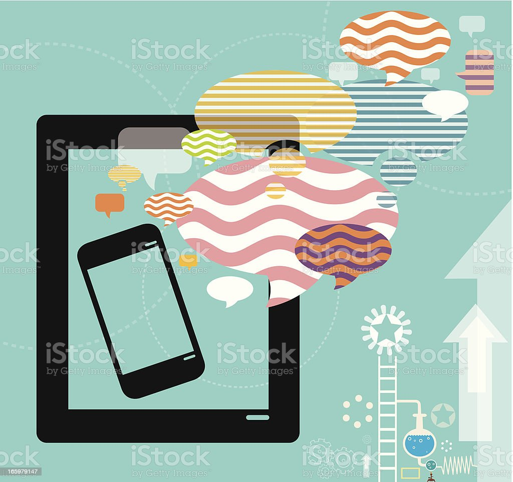 Mobility and Social Media royalty-free stock vector art