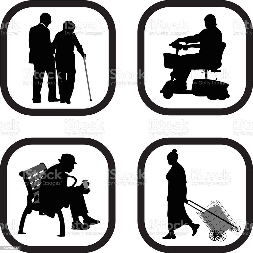 Mobility vector art illustration