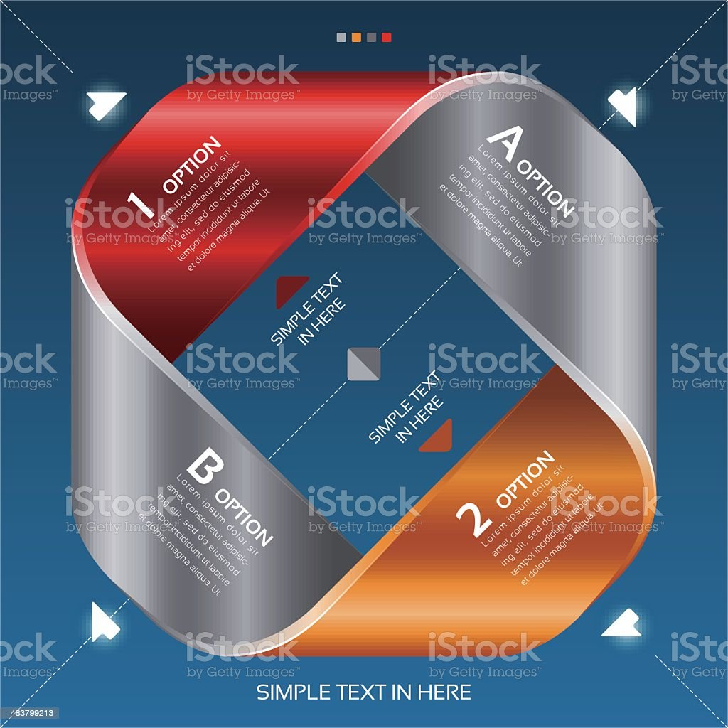 Mobius strip of paper. Vector option infographic. vector art illustration