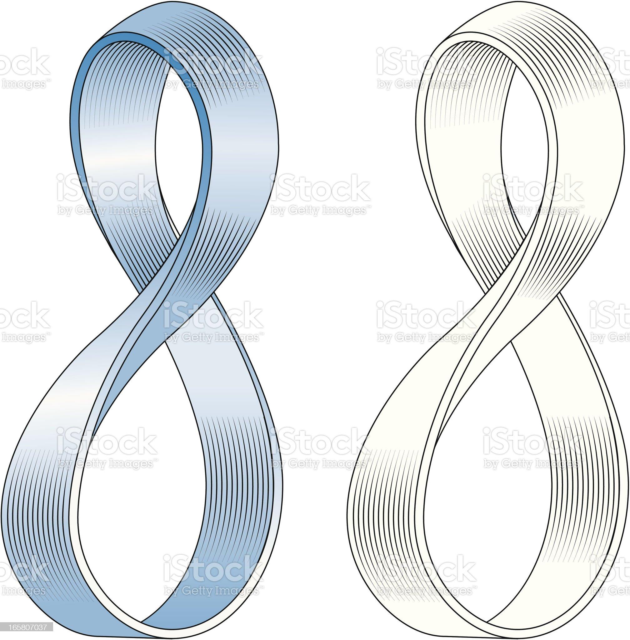 Mobius strip royalty-free stock vector art