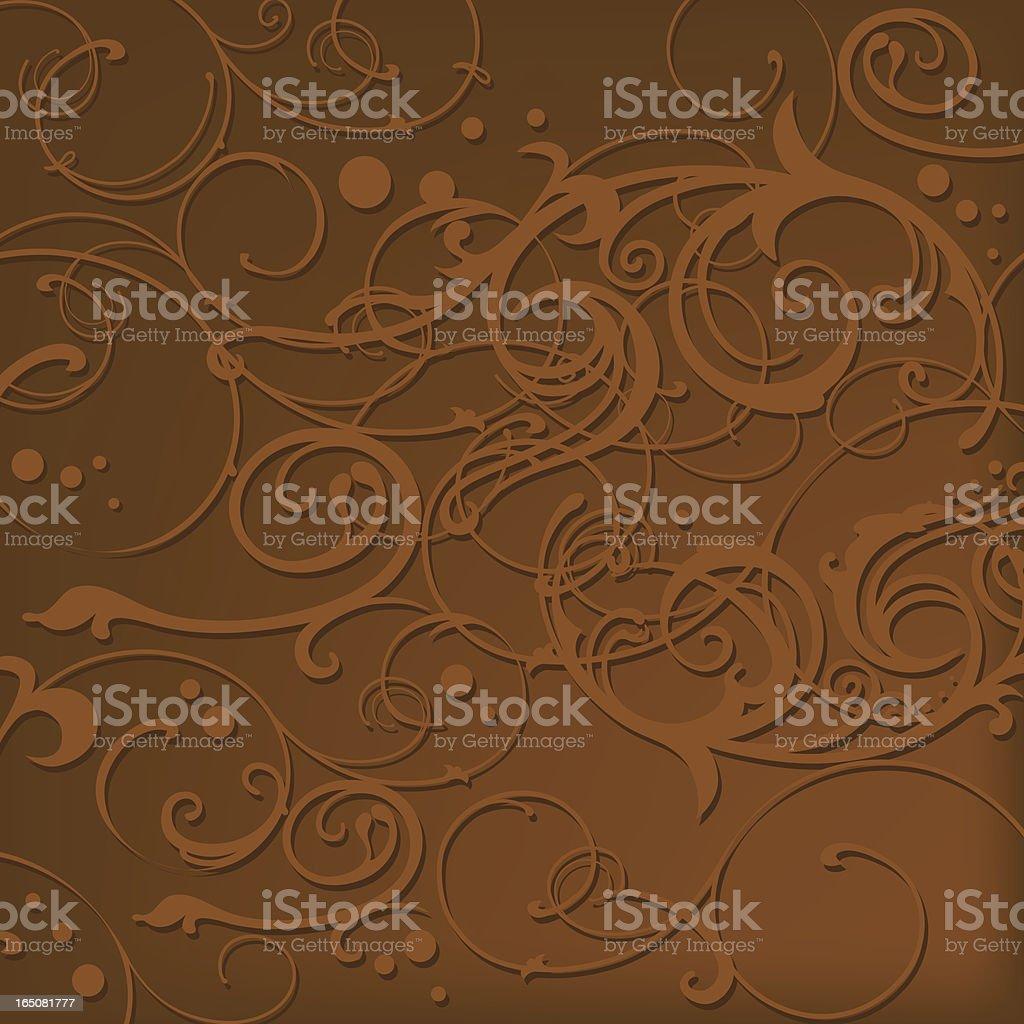 Mocha Swirls royalty-free stock vector art