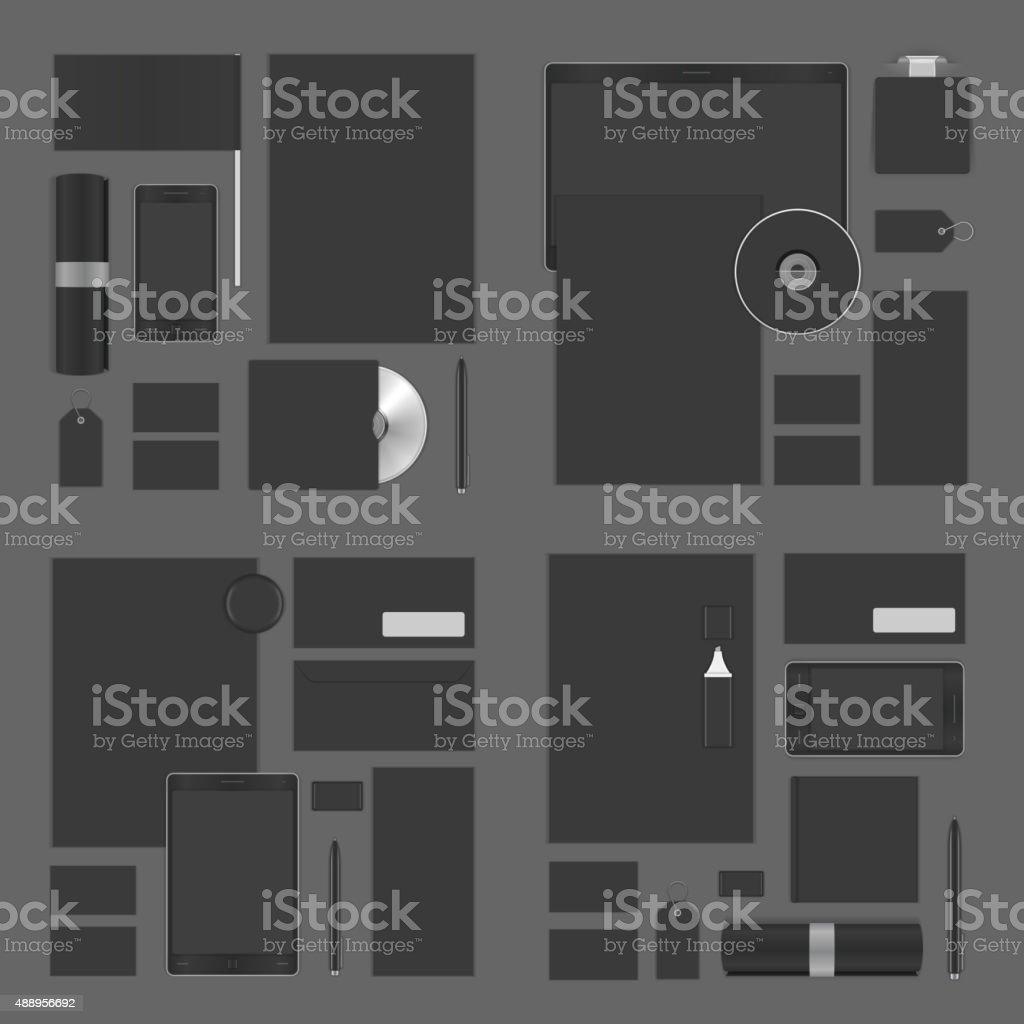 Mock up for Logo presentation corporate identity template vector art illustration