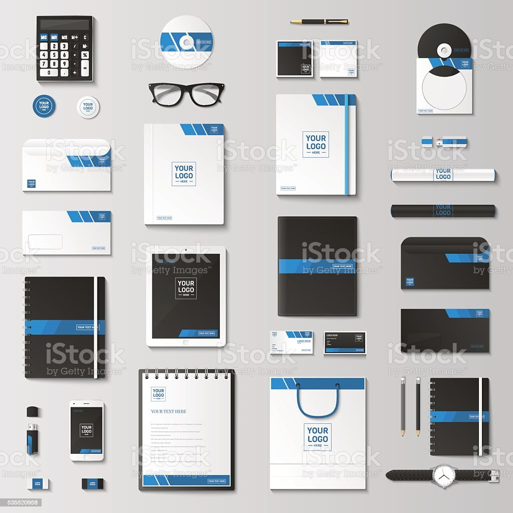 Mock up vector set. vector art illustration