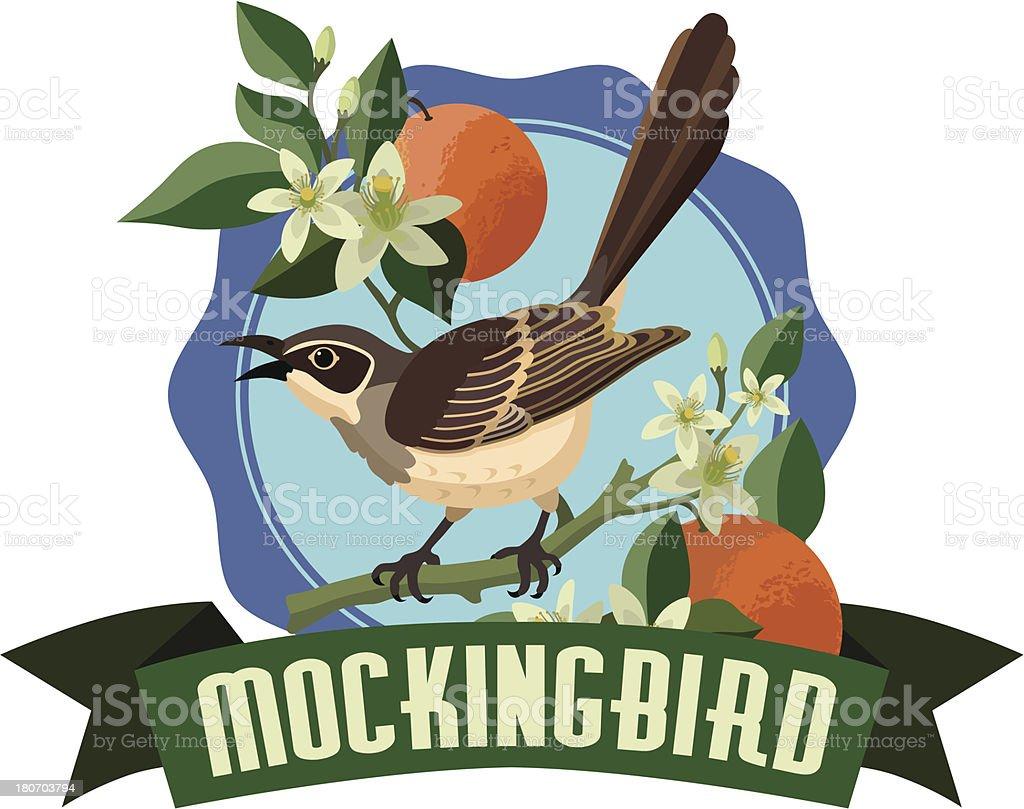 mockingbird royalty-free stock vector art