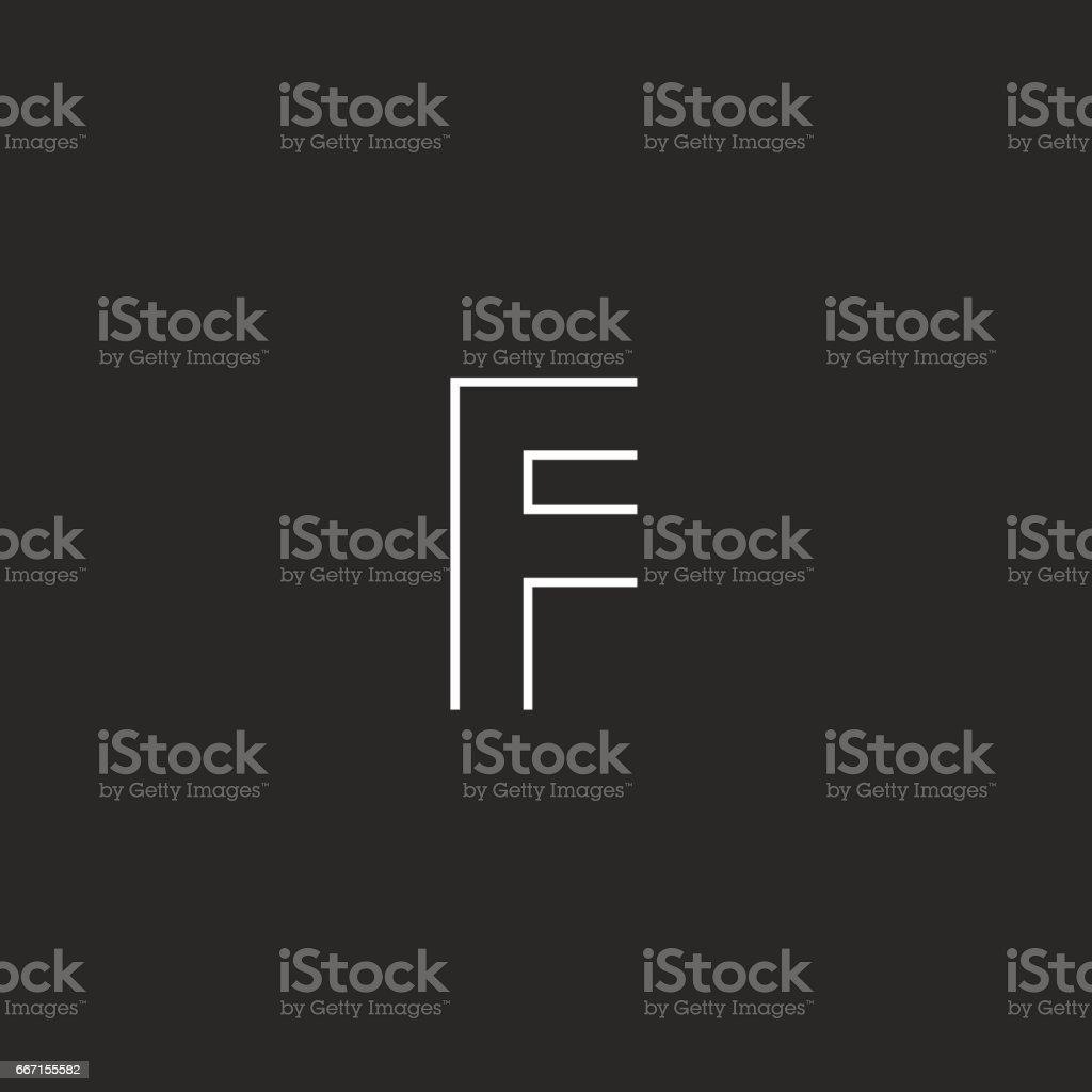 Mockup icon F letter vector art illustration