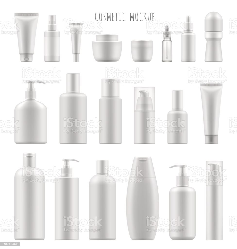mock-up of cosmetic package royalty-free stock vector art