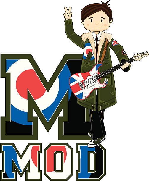 Cool Mod & Guitar Learning Letter M Clip Art, Vector Images ...