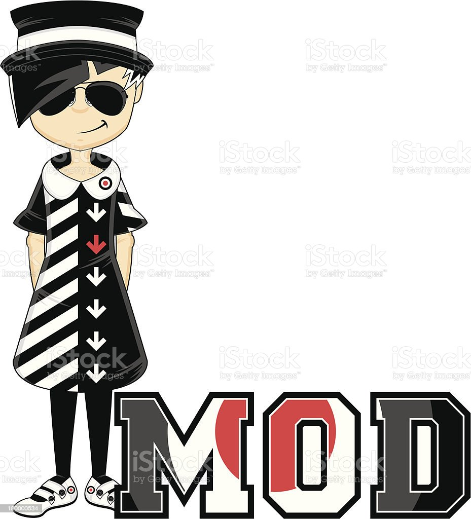 Mod Learn to Read Illustration royalty-free stock vector art