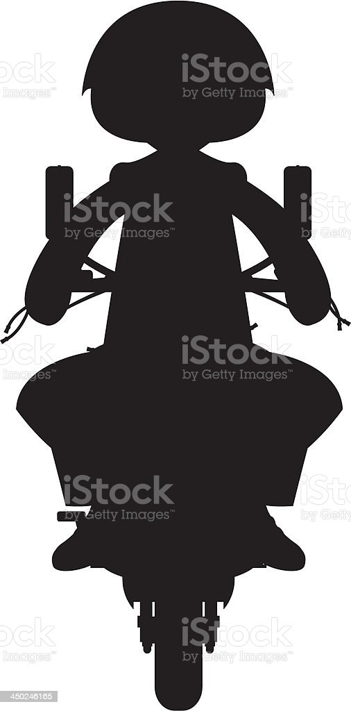 Mod on Scooter Silhouette royalty-free stock vector art