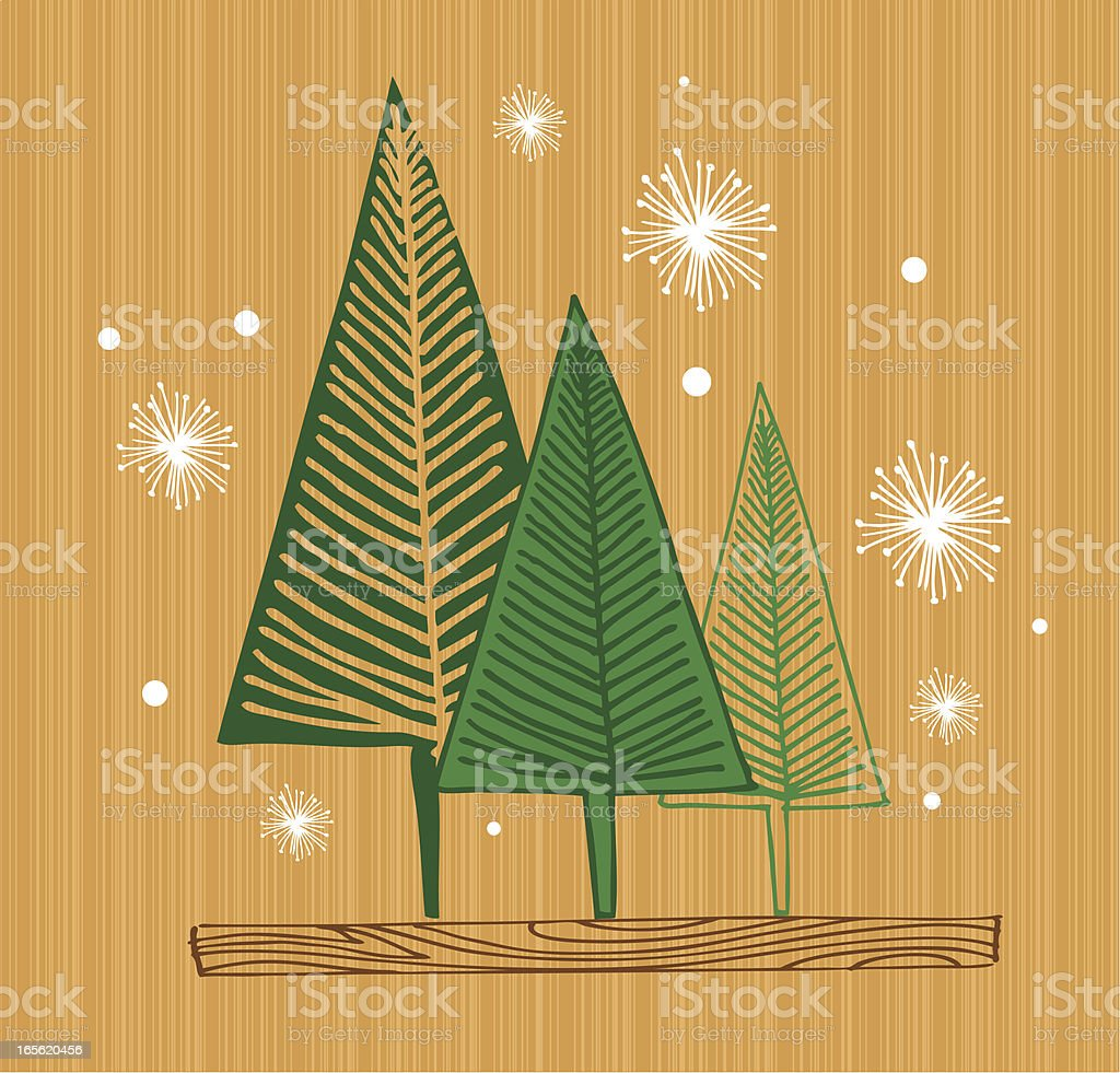 mod snowy forest royalty-free stock vector art