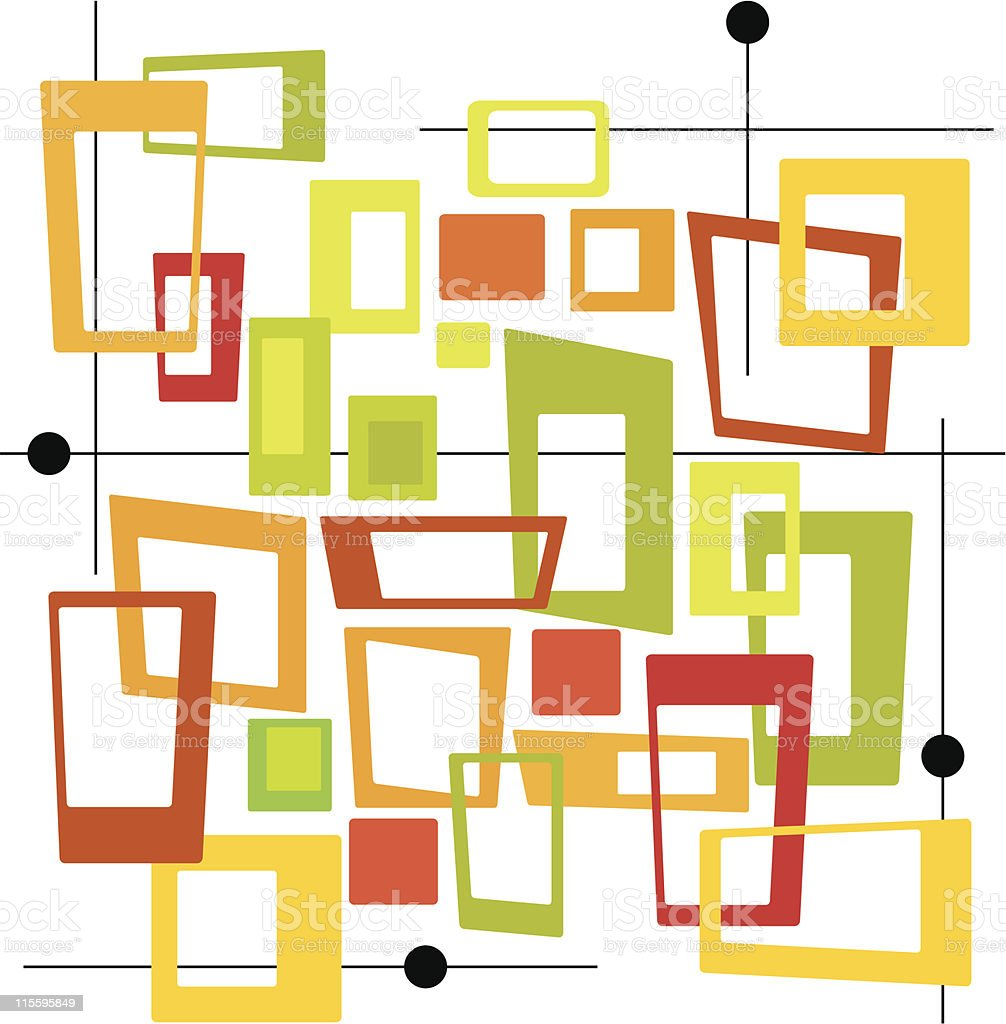 Mod Squares (Vector) vector art illustration