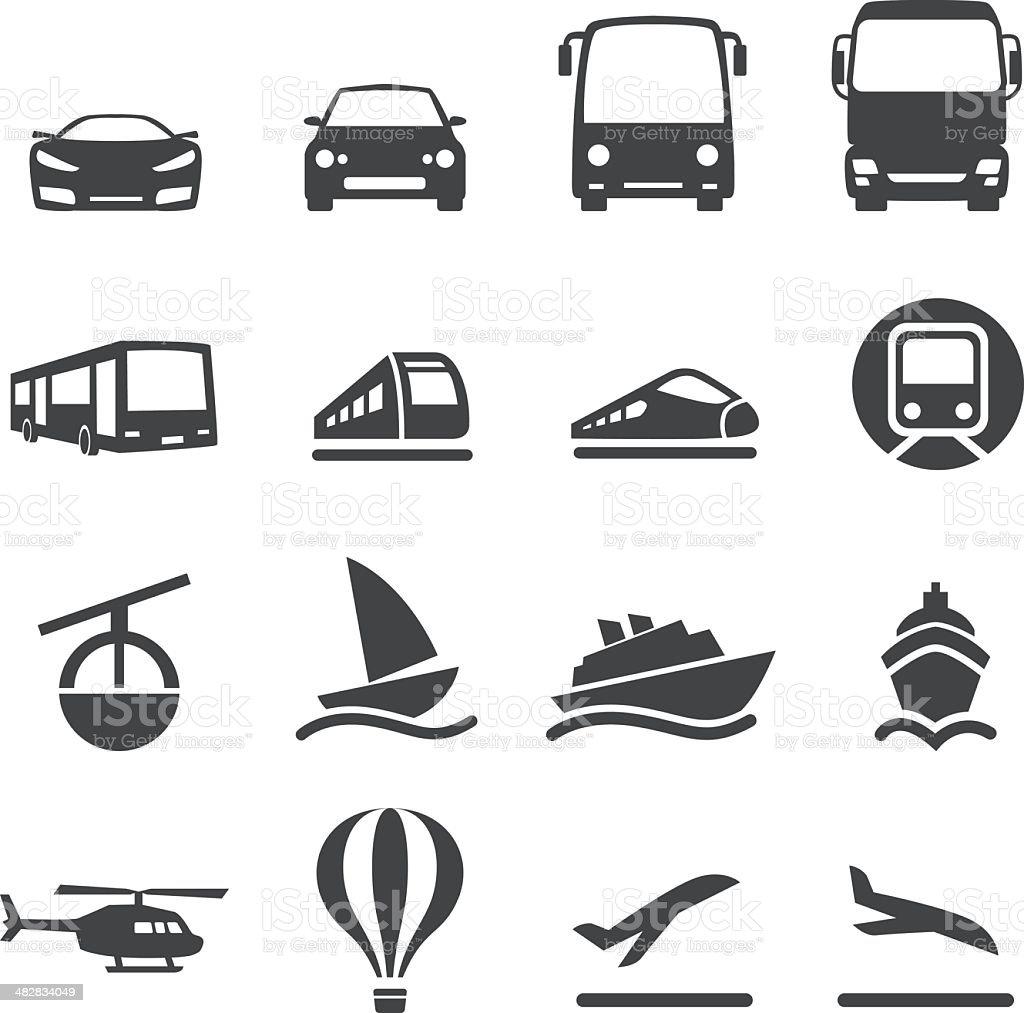 Mode of Transport Icons Set 2-Acme Series vector art illustration
