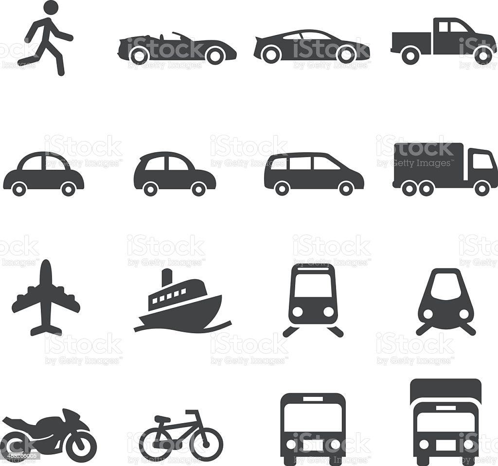 Mode of Transport Icons-Acme Series royalty-free stock vector art