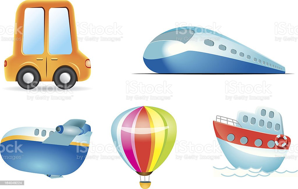 Mode of Transport royalty-free stock vector art