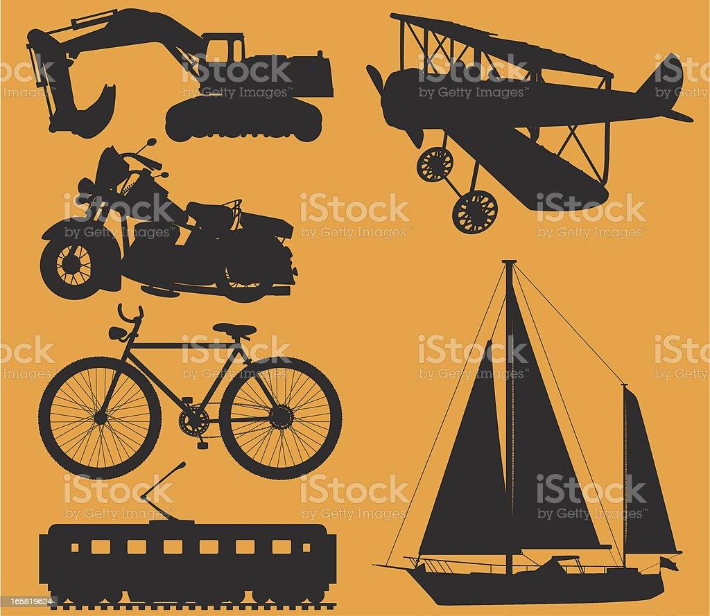 Mode Of Transport vector art illustration