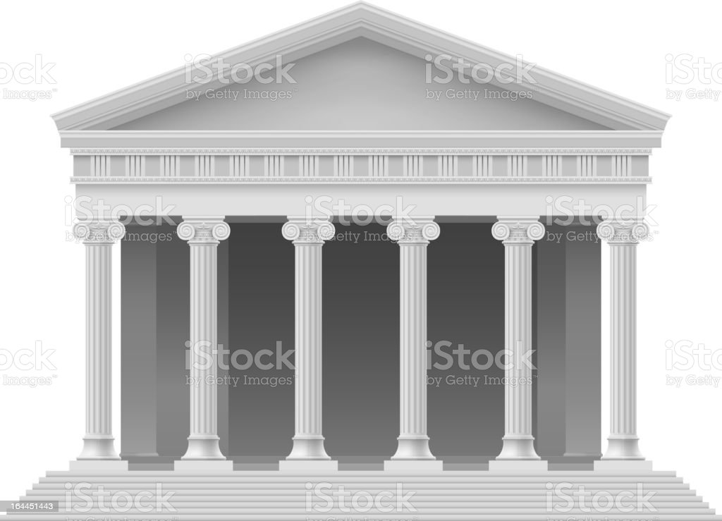 3D model of a roman coliseum building vector art illustration