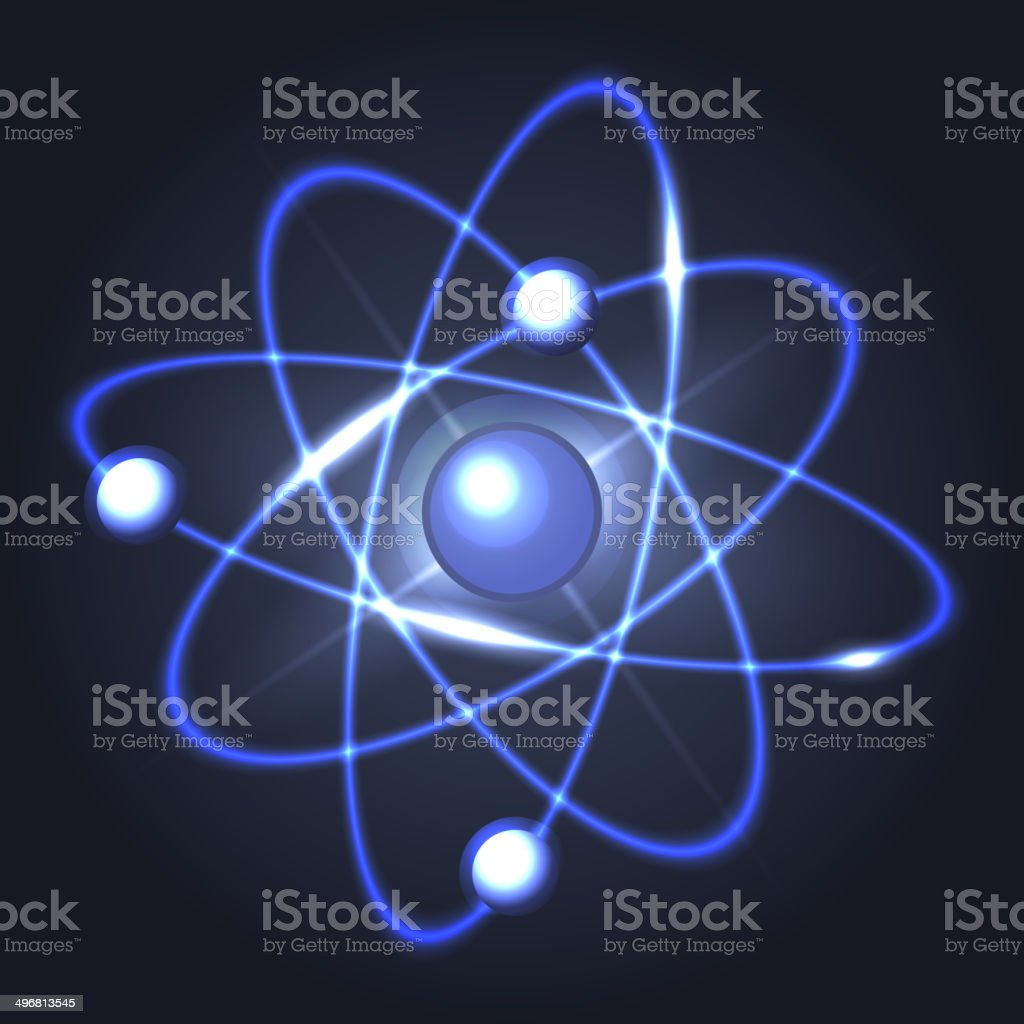 Model of Abstract Atom Structure. Vector vector art illustration