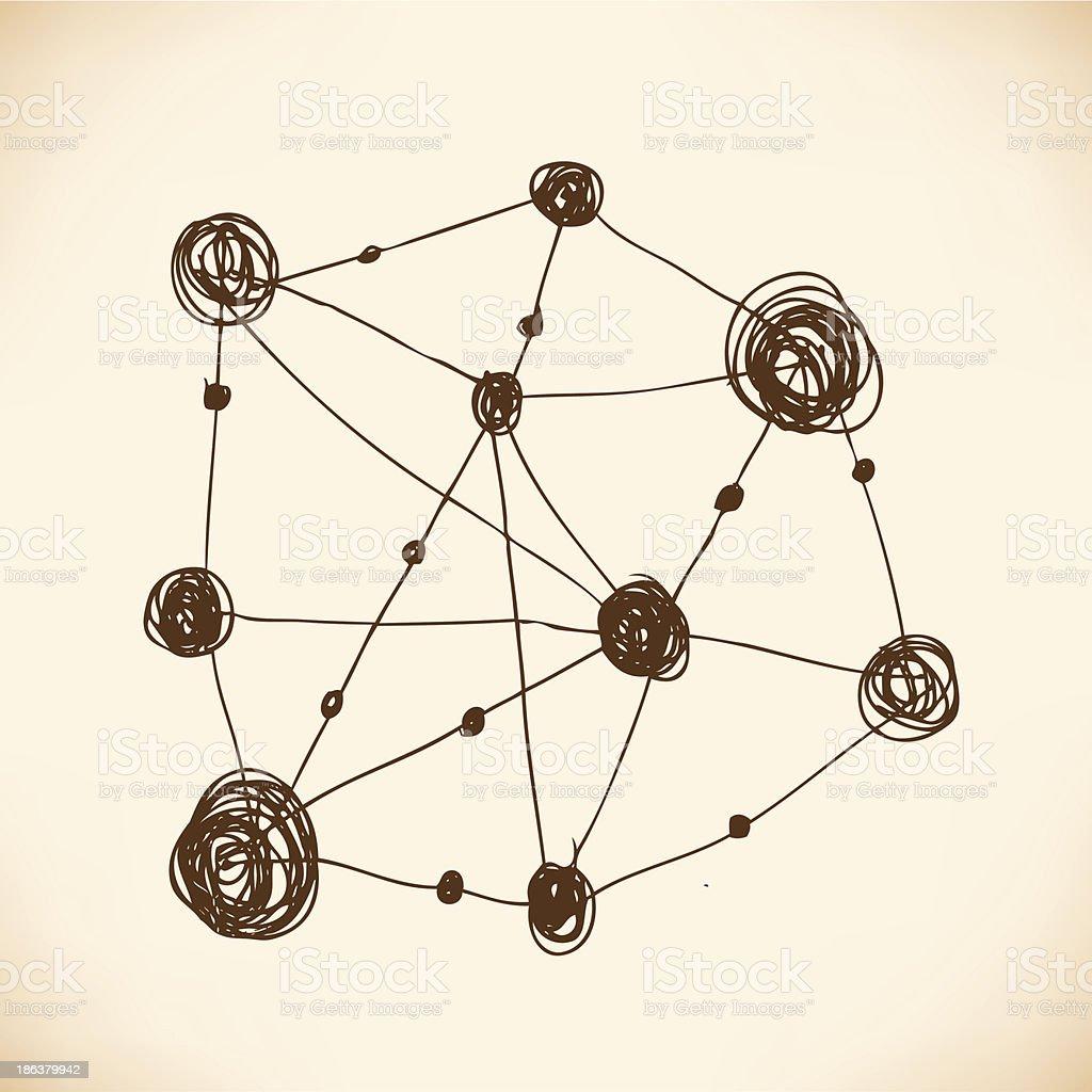 Model of atom. Atomic lattice. Structure royalty-free stock vector art