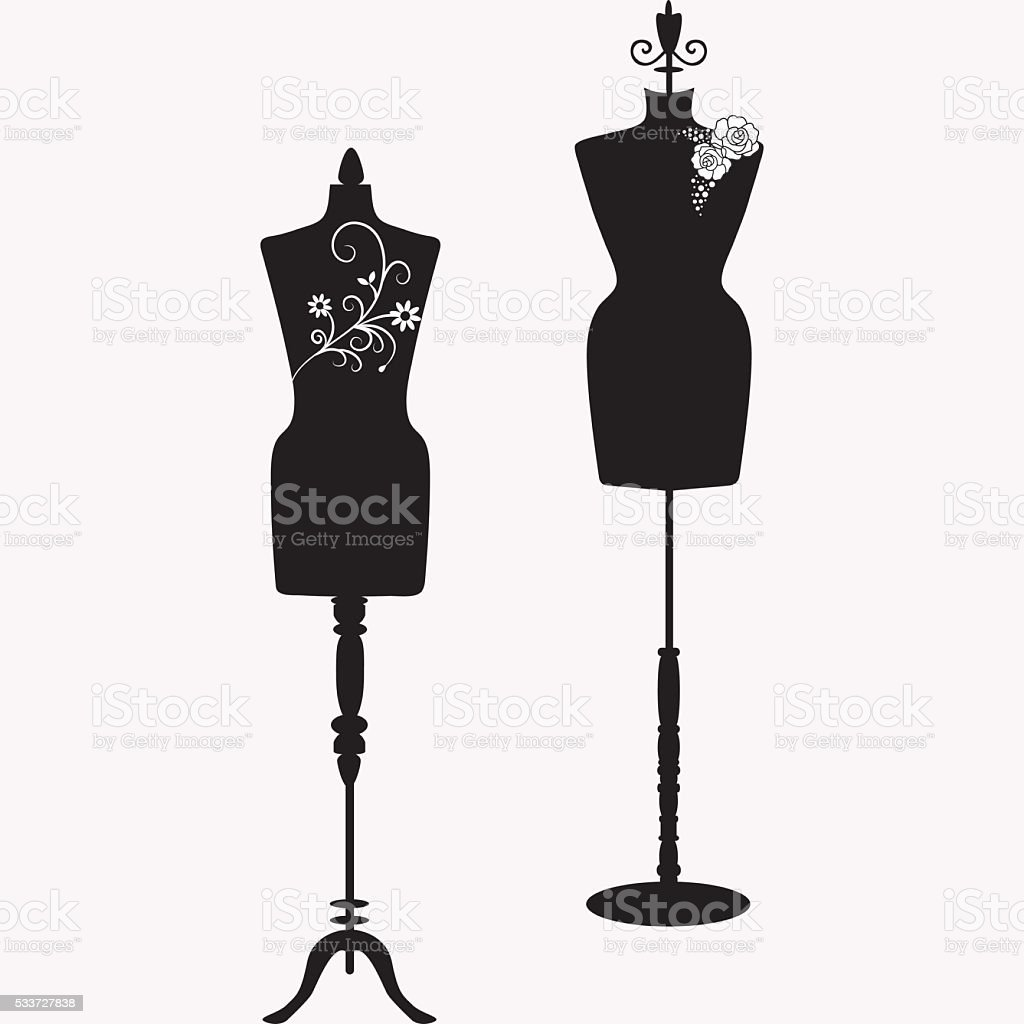 Mannequin Silhouette Collections vector art illustration