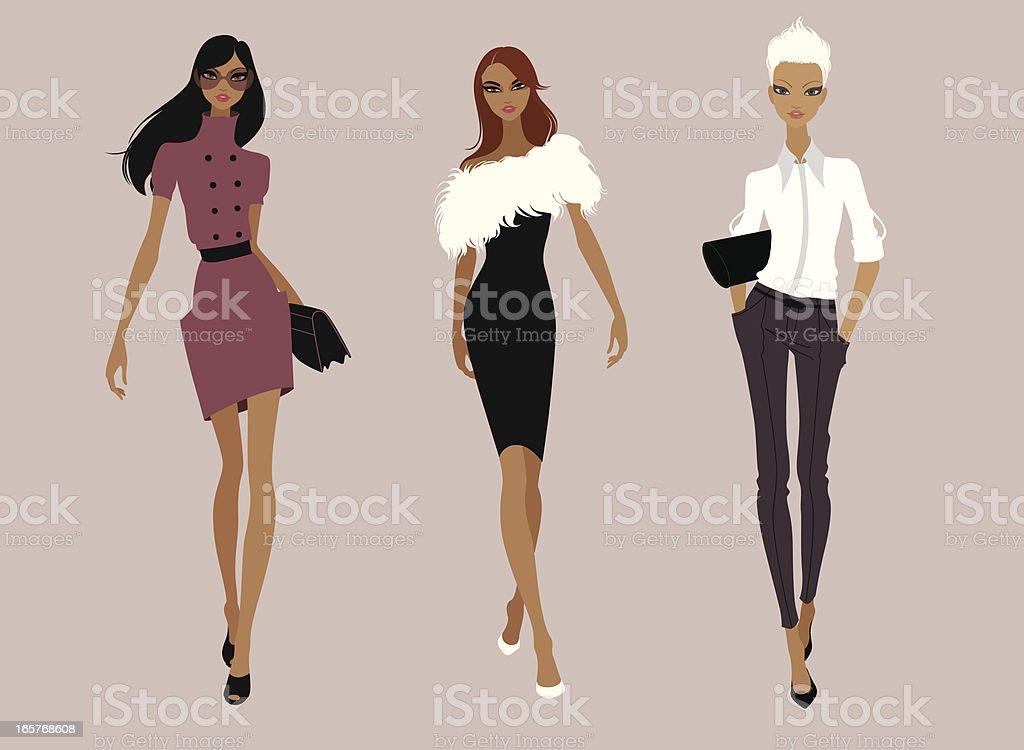 Models vector art illustration