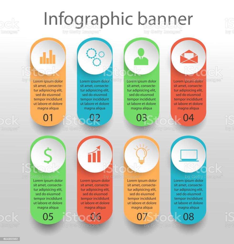 Moden infographics banner vector art illustration