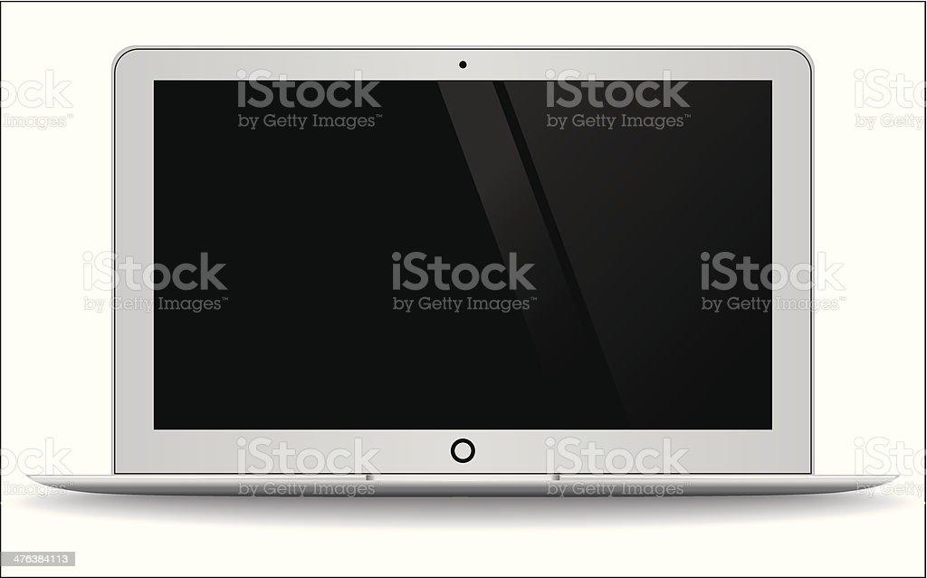 Moden Laptop vector art illustration