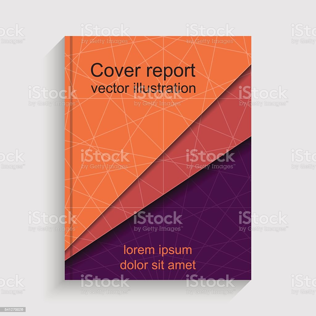 Modern abstract brochure. Cover annual report. vector art illustration