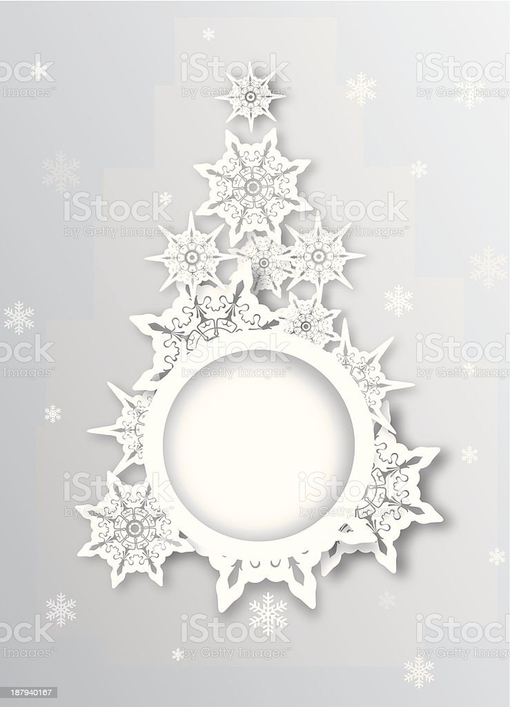 Modern abstract christmas tree greeting on white background royalty-free stock vector art