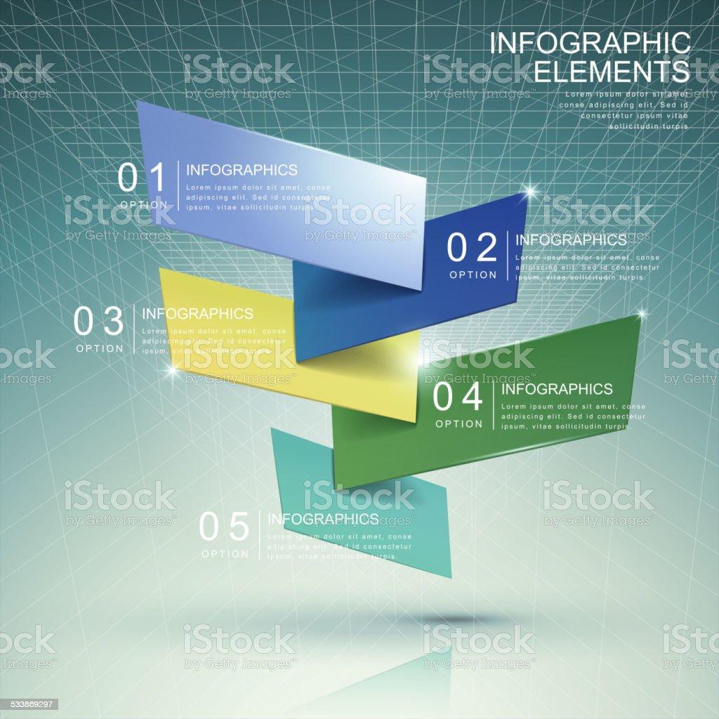 modern abstract translucent bar chart infographic vector art illustration