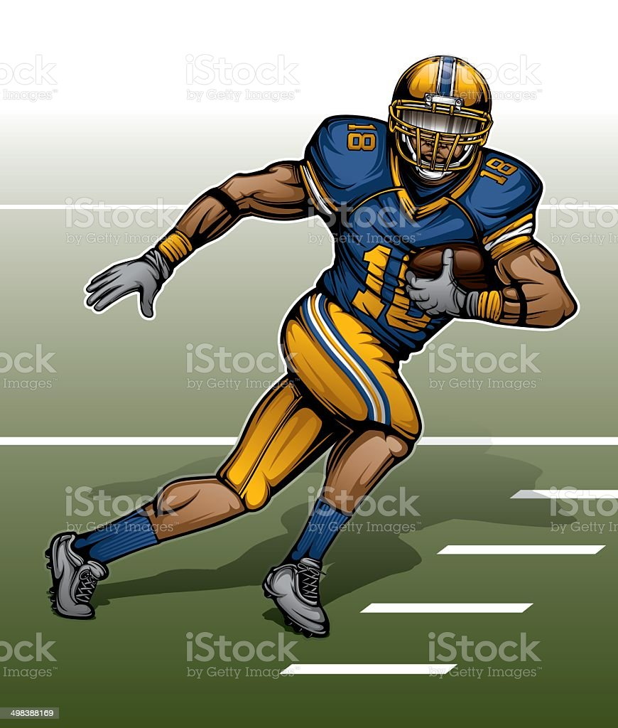 Modern American Football Player vector art illustration