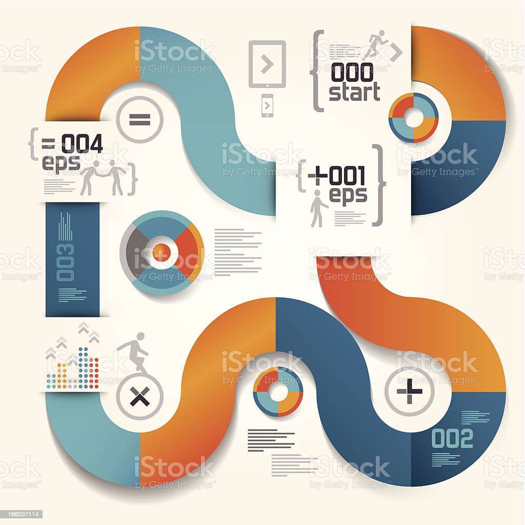 Modern and abstract infographic design royalty-free stock vector art