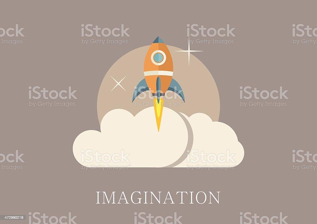 Modern and classic design imagination concept flat icon vector art illustration