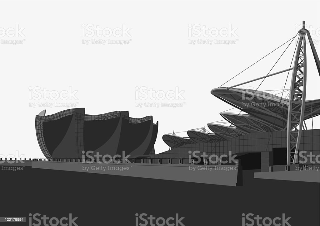 modern architecture royalty-free stock vector art