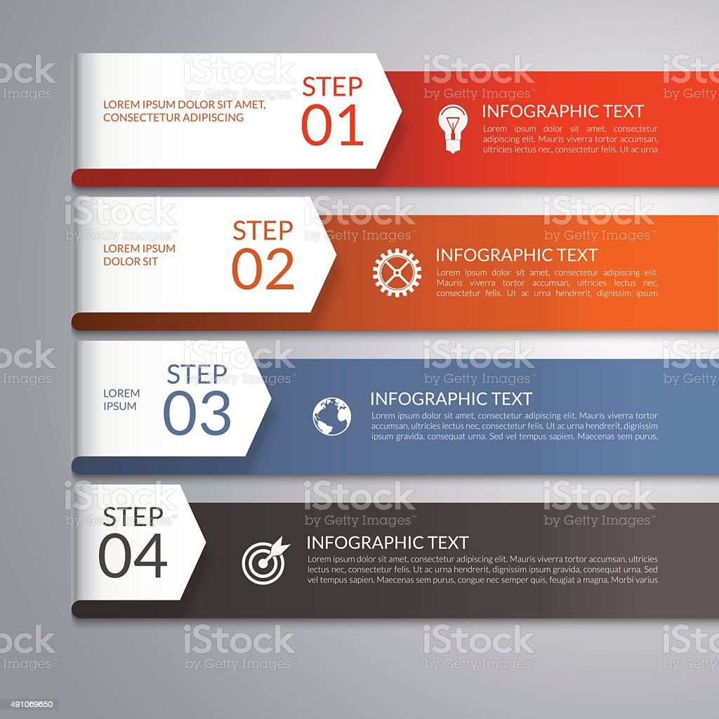 Modern arrow infographic template vector art illustration