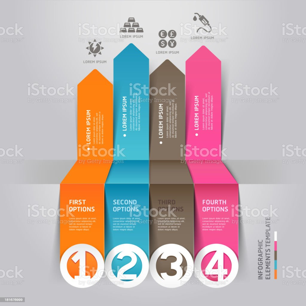 Modern arrow infographics energy resource origami style. royalty-free stock vector art