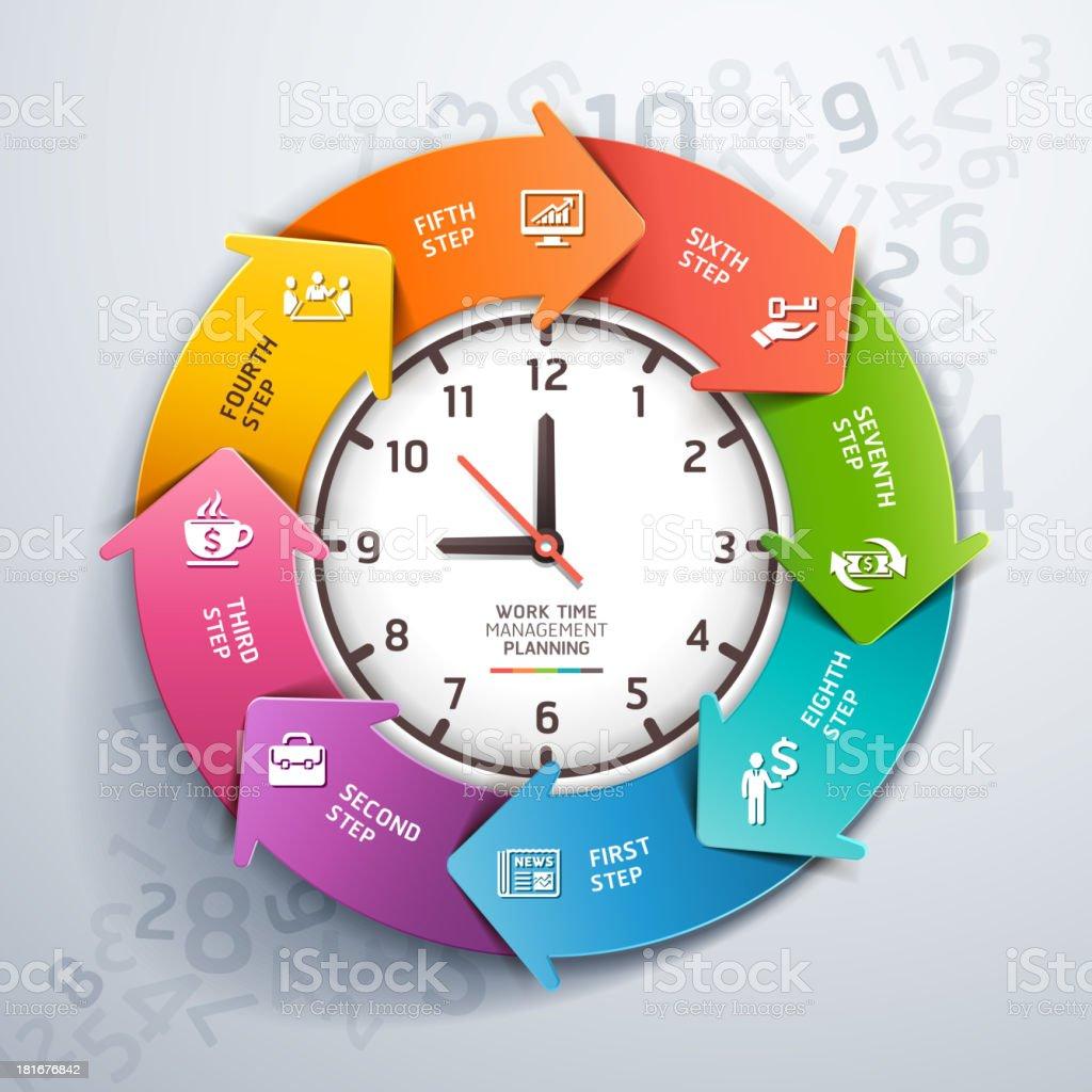 Modern arrow work time management planning. royalty-free stock vector art