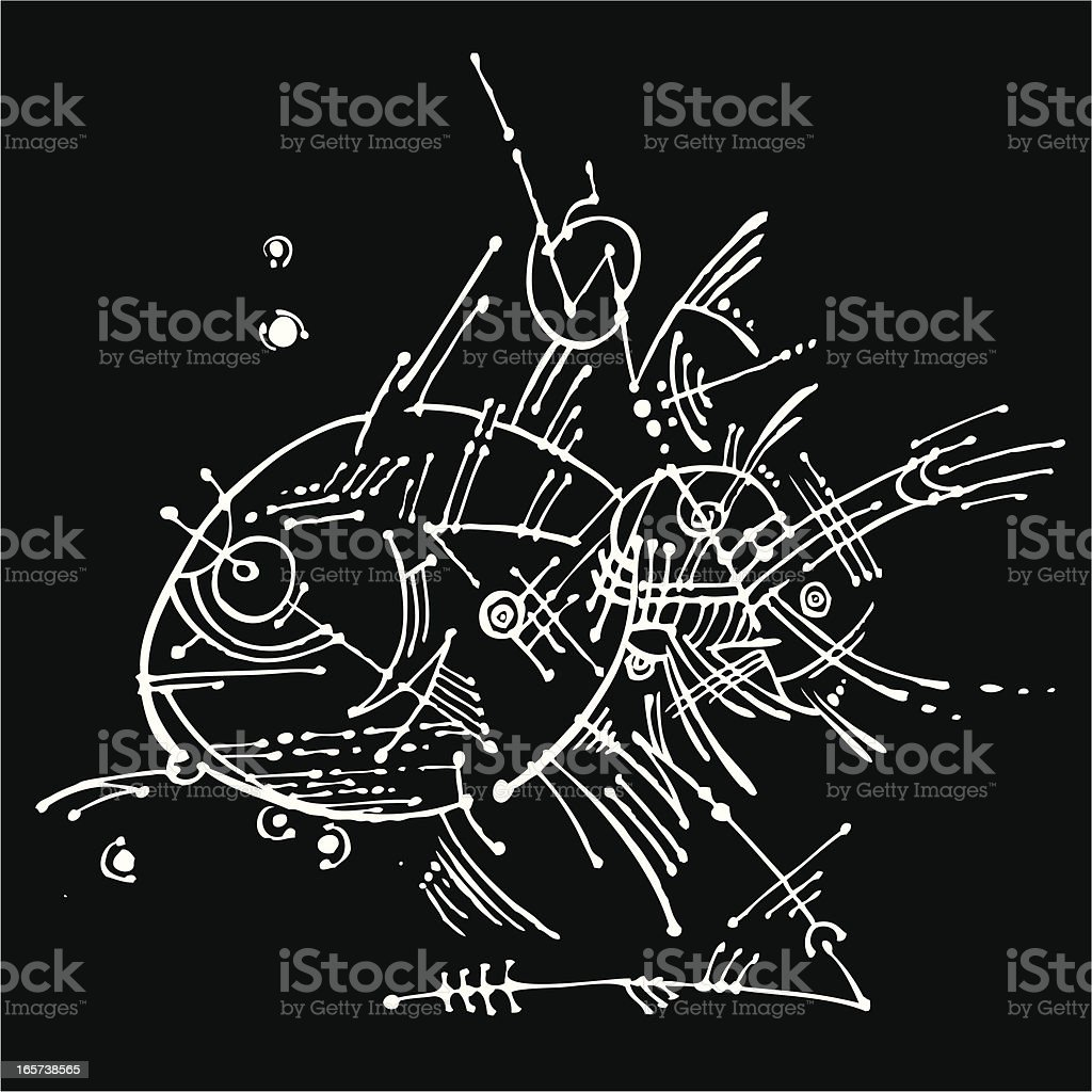 Modern Art (Glass Fish) vector art illustration