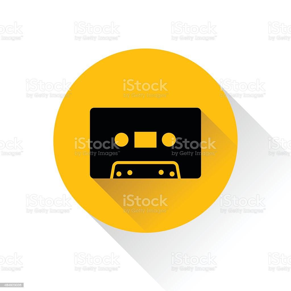 Modern audio icon with long shadow, vector illustration vector art illustration