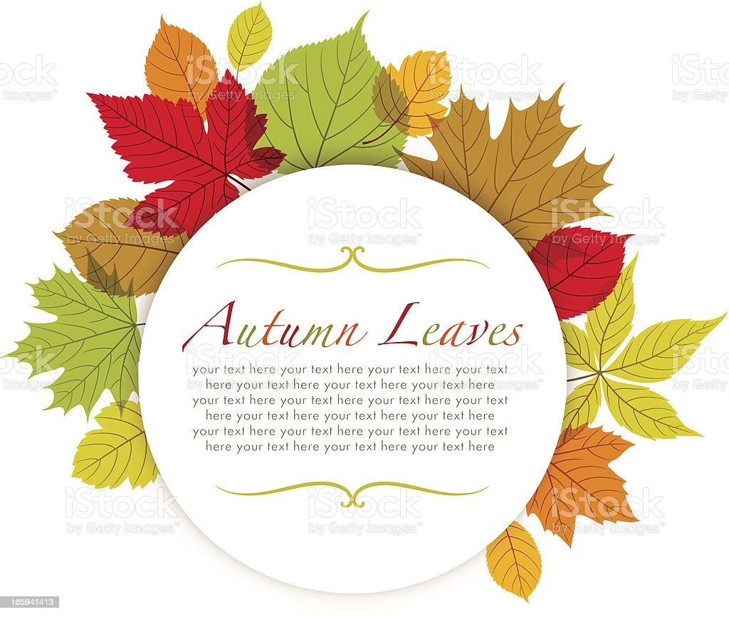 Modern Autumn Frame royalty-free stock vector art