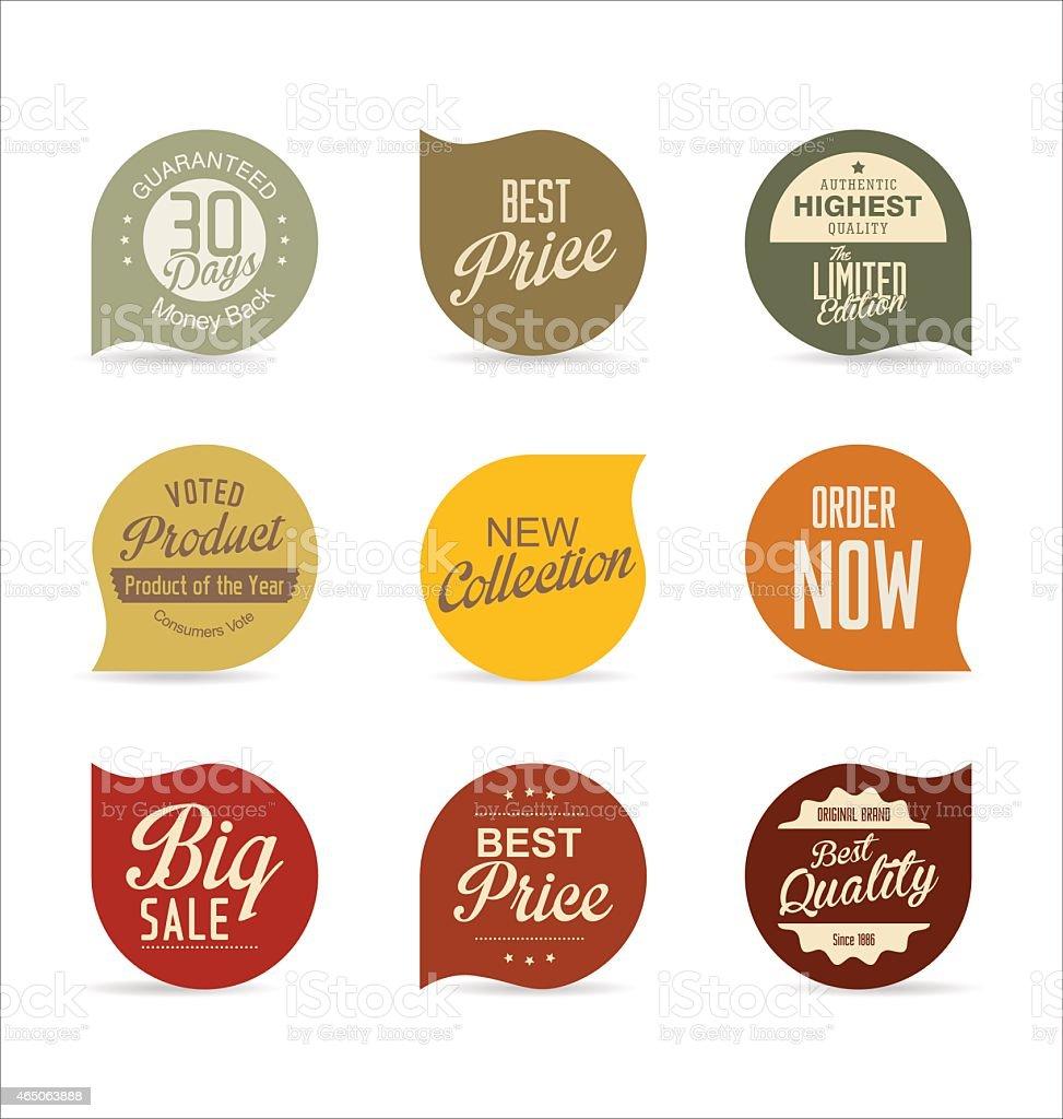 Modern badges vector art illustration