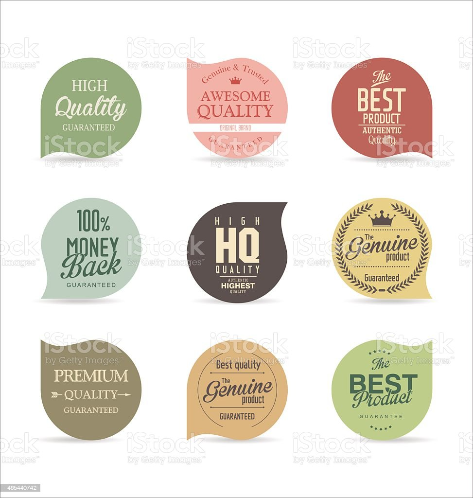 Modern badges vector art illustration