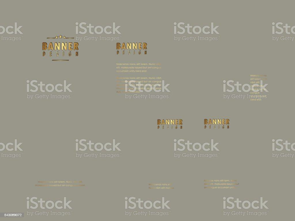 Modern banner design vector art illustration